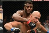 Krito trečias iš eilės: galingais smūgiais pasižymintis F.Ngannou per 71sekundę nokautavo buvusį UFC čempioną
