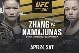 """Oficialu: R.Namajunas sieks atimti čempionės titulą iš W.Zhang """"UFC 261"""" turnyre"""