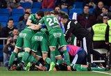 """Eilinis """"Real"""" pažeminimas: savo tvirtovėje iškrito iš Ispanijos taurės"""