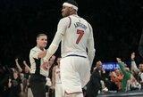 """C.Anthony neleido """"Knicks"""" patirti pralaimėjimo prieš """"76ers"""" klubą"""