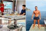 Pasižvalgykite po vidų: C.Ronaldo atostogoms nusipirko įspūdingą jachtą