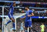 """""""Premier"""" lygos apžvalga: """"Chelsea"""" vis patogiau įsitaiso viršuje, o čempionų laukia kova dėl išlikimo"""