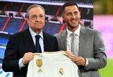 """Pilno """"Santiago Bernabeu"""" stadiono pasitiktas E.Hazardas: """"Nekantrauju iškovoti daug titulų"""""""