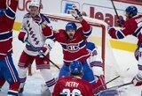 """Paskutinėmis sekundėmis pratęsimą išplėšusi """"Canadiens"""" iškovojo dramatišką pergalę ir išlygino serijos rezultatą"""