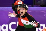 Per 94 metų žiemos olimpinių žaidynių istoriją to dar nebuvo: Vengrijos čiuožėjai išplėšė epinę pergalę (atnaujinta)