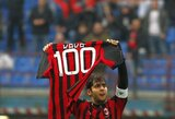 """Šimto įvarčių ribą perkopęs Kaka atvedė """"Milan"""" į pergalę (+ kiti rezultatai)"""
