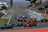Didele avarija prasidėjusias lenktynes laimėjo L.Hamiltonas, surizikavęs S.Vettelis prarado vietą ant podiumo