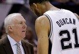 K.Bryantas: pavydžiu Duncanui, kad jis visą karjerą žaidžia pas tą patį trenerį