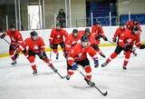 Jaunieji Lietuvos ledo ritulininkai draugiškose rungtynėse įtikinamai įveikė svečius iš Baltarusijos