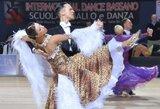 Europos standartinių šokių čempionate V.Lacitis ir V.Golodneva užėmė 10-ą vietą