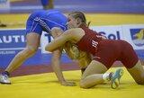 Europos imtynių čempionatas: nors D.Domikaitytei burtai negailestingi, lietuvė iškovojo pirmą pergalę