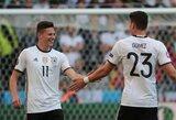 Vokiečiai sutriuškino slovakus ir galingai žengė į Europos čempionato ketvirtfinalį