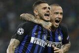 """M.Icardi: """"Inter"""" pastarųjų kelių savaičių aplinka buvo bjauri, tačiau tokios rungtynes mums duoda pasitikėjimo"""""""