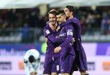 """Mažumoje žaidusi """"Fiorentina"""" žengė į Italijos taurės aštuntfinalį"""