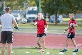 """Moterų futbolo rinktinės kapitonė: """"Mes būsime pasiruošusios"""""""