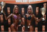 NAC kultūrizmo ir fitneso pasaulio čempionate – dvigubas R.Slavinskaitės ir L.Stakaitytės triumfas