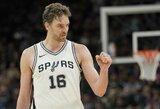 """6 prarasti žaidėjai nė motais: """"Spurs"""" iškovojo įspūdingą pergalę"""