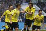 """""""Borussia"""" klubas atsitiesė ir įveikė """"Schalke""""  (kiti rezultatai)"""