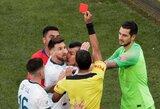 """Į konfliktą su L.Messi įsivėlęs G.Medelis užstojo argentinietį: """"Nemaniau, kad už šį epizodą išvysime net po geltoną kortelę"""""""