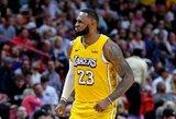 L.Jamesas pagalvoja apie absoliutų NBA taškų rekordą