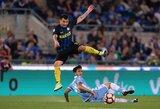 """""""Inter"""" įveikė devyniese rungtynes baigusius """"Lazio"""" futbolininkus"""