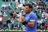 """Varžovo trauma atvėrė R.Nadaliui duris į """"French Open"""" pusfinalį"""