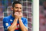 """""""Napoli"""" namuose nesugebėjo įveikti paskutinėje turnyrinės lentelės vietoje besirikiuojančių """"Chievo"""" futbolininkų"""