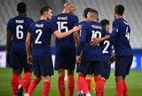 Prancūzijos rinktinė kontrolinėse rungtynėse Ukrainai atseikėjo 7 įvarčius