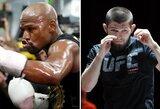 """D.White'as: """"Jeigu F.Mayweatheris nori kovos, tegu ateina į UFC"""""""