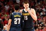 """Trigubą dublį užfiksavęs N.Jokičius su """"Nuggets"""" laimėjo Portlande"""