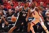 """L.Aldridge'as vėl pasirodė puikiai, """"Spurs"""" išlieka pergalių kelyje"""
