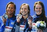 Įspūdinga: 18-metė amerikietė pasaulio plaukimo čempionate iškovojo jau trečią aukso medalį (+ visi prizininkai)