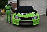 """""""ESmotorsport-LabasGas"""" pasauliui pristatė kaip atrodys """"Škoda Fabia WRX"""" dizainas"""