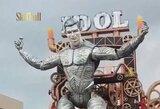 """C.Ronaldo kultas: Italijos festivalyje – 20 metrų aukščio portugalo """"robotas"""""""