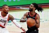 """""""Bulls"""" nepaisant išretintos sudėties ir 20 taškų deficito laimėjo Portlando"""