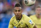 """""""Borussia"""" naujokas P.E.Aubameyangas greitesnis už U.Boltą?"""