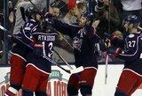 """""""Blue Jackets"""" sugrįžo į NHL turnyrinės lentelės viršūnę"""