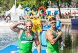 """Olimpiečiai A.Lankas ir E.Ramanauskas mielai išbandytų ekstremalias """"Snow Kayak"""" varžybas"""