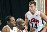 JAV rinktinės treniruotėse krepšininkai atlieka įspūdingus triukus