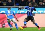 """Pirmosios Italijos taurės pusfinalio rungtynės """"Inter"""" baigėsi nesėkme: krito prieš """"Napoli"""""""