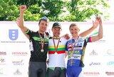 Lietuvos dviračių plento čempionato grupinėse lenktynėse – D.Tušlaitės ir A.Kruopio triumfas