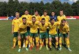 Lietuvos jaunių futbolo rinktinė patyrė pirmą pralaimėjimą Baltijos taurėje