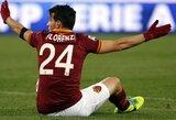 """""""Roma"""" trečią kartą iš eilės sužaidė lygiosiomis ir užleido lyderio vietą """"Juventus"""" klubui"""