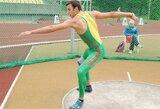 Disko metikui D.Poškai iki Europos jaunimo čempionato medalio pritrūko 1,49 m.