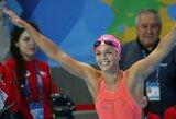 Antrąjį aukso medalį iškovojusi J.Jefimova Los Andžele triuškino varžoves