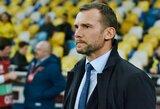 Ukrainos rinktinės treneris A.Ševčenka norėtų diriguoti Italijos klubui