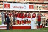 """""""Emyratų"""" taurėje """"Sevilla"""" klubas įveikė """"Arsenal"""", bet trofėjus atiteko Londono klubui"""