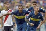 """""""Copa Libertadores"""" finalas: pirmoji """"Boca Juniors"""" ir """"River Plate"""" akistata pasibaigė karštomis lygiosiomis"""