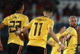 Europos čempionato atrankoje – triuškinamos Belgijos ir Kroatijos pergalės bei dar vienas Latvijos pažeminimas