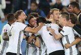 Vokiečiai dramatiškai laimėjo baudinių seriją ir žais Europos čempionato pusfinalyje